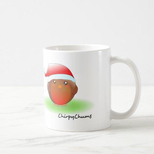 Christmas Robin Coffee Mugs