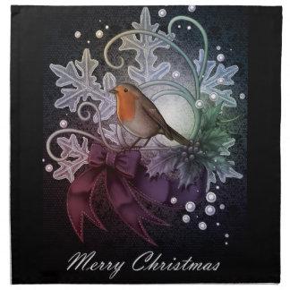 Christmas Robin Napkin