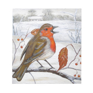 Christmas Robin Notepad