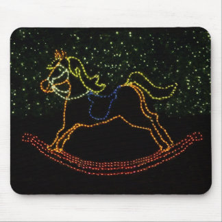 Christmas Rocking Horse 2016 Mouse Pad