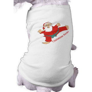 Christmas Rocks Santa Claus Christmas Pet Clothing