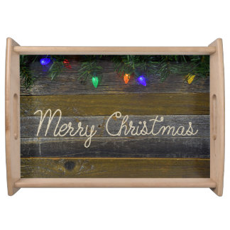 Christmas rope and lights service trays