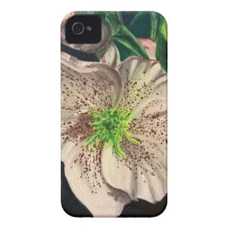 Christmas Rose Flower painting Case-Mate iPhone 4 Cases