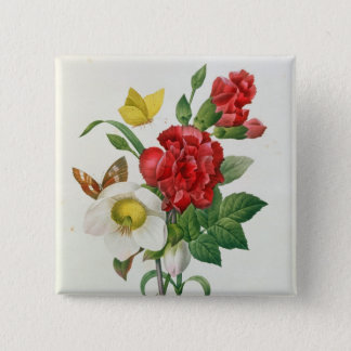 Christmas Rose, Helleborus niger 15 Cm Square Badge