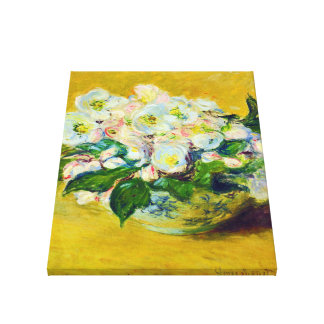Christmas Rose Monet Fine Art Canvas Print
