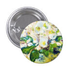 Christmas Roses Claude Monet flowers floral paint 3 Cm Round Badge