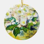 Christmas Roses Claude Monet flowers floral paint Christmas Tree Ornaments