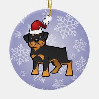 Christmas  Rottweiler Christmas Ornament