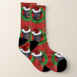 Christmas Rottweiler dog socks 1