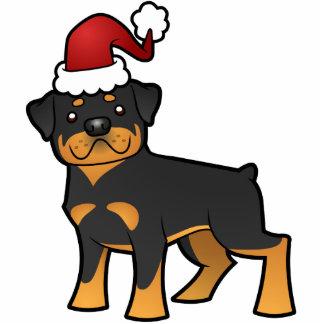 Christmas Rottweiler Ornament Photo Sculpture Decoration