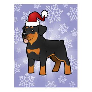 Christmas Rottweiler Postcard
