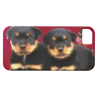 Christmas Rottweiler puppies Barely There iPhone 5 Case