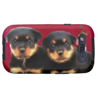 Christmas Rottweiler puppies Galaxy SIII Case