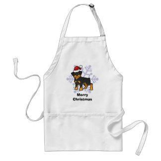 Christmas Rottweiler Standard Apron