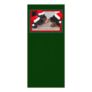 Christmas Rottweilers: A Time of Joyous Giving Rack Card