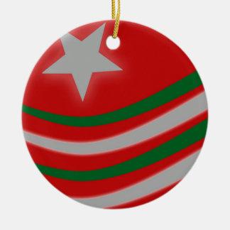 Christmas Round Ceramic Decoration