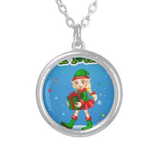 Christmas Round Pendant Necklace