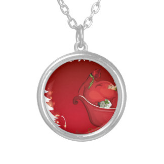 Christmas Round Pendant Necklace