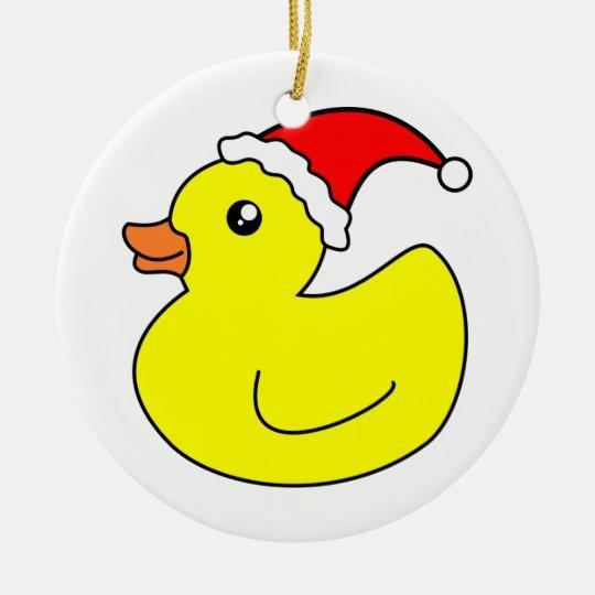 Christmas Rubber Duck Ornament