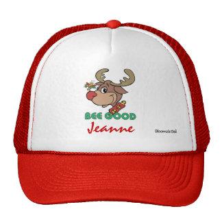 Christmas Rudolph Bee Good Trucker Hats