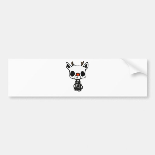 Christmas Rudolph Bumper Stickers