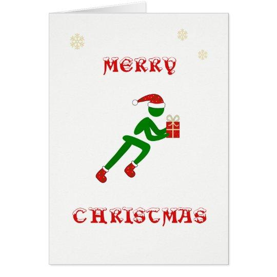 Christmas runner carrying gift card
