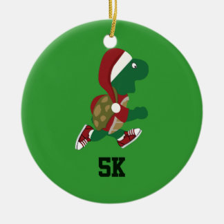 Christmas Running Turtle 5K Christmas Ornament