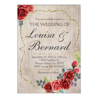 Christmas Rustic Boho Winter Wedding Invitation