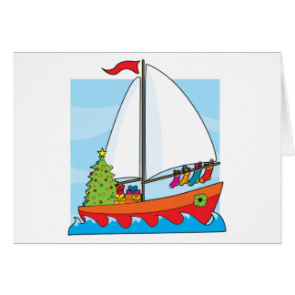 Christmas Sailing Greeting Card