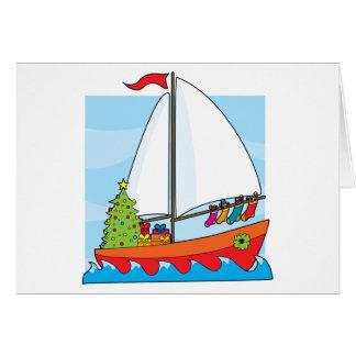 Christmas Sailing Greeting Card