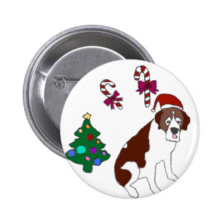 Christmas Saint Bernard dog Buttons