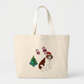 Christmas Saint Bernard dog Bag