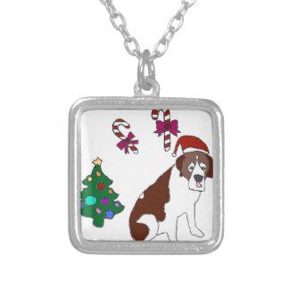 Christmas Saint Bernard dog Custom Necklace