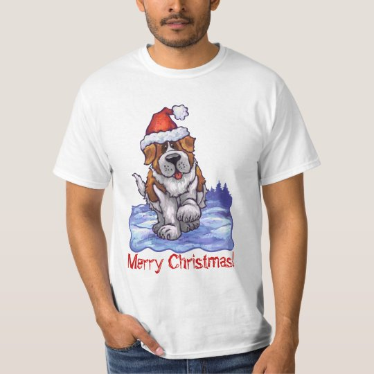 Christmas Saint Bernard Light Tee