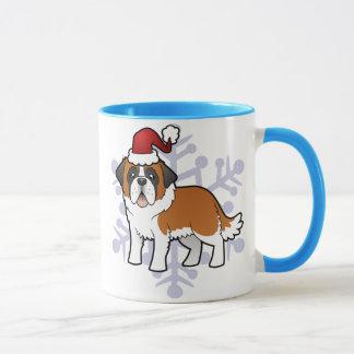 Christmas Saint Bernard Mug
