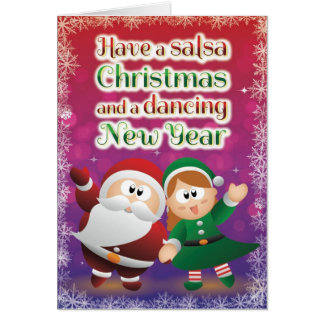 Christmas Salsa Card Red