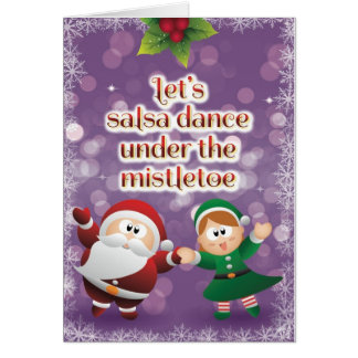 Christmas Salsa Mistletoe Card