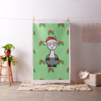 christmas santa alpaca fabric
