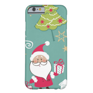 Christmas Santa and snowman pattern Barely There iPhone 6 Case