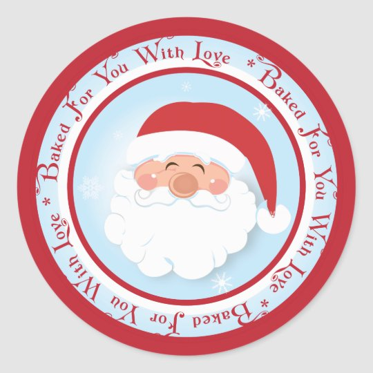 Christmas Santa  Baking label Stickers