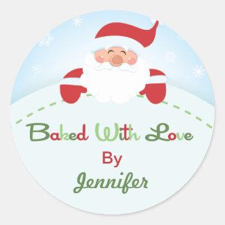 Christmas Santa  Baking label Stickers