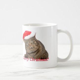 Christmas Santa cat. Basic White Mug