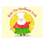 Christmas Santa Chef Post Card