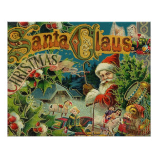 Christmas Santa Claus Antique Vintage Victorian