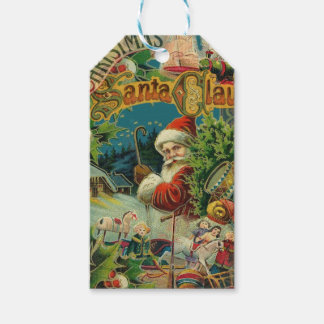 Christmas Santa Claus Antique Vintage Victorian Gift Tags