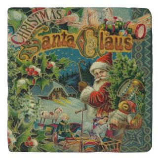 Christmas Santa Claus Antique Vintage Victorian Trivet