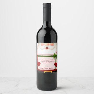 Christmas, Santa Claus, Custom Wine Label