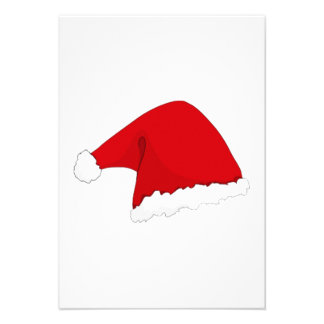 Christmas Santa Claus Hat Custom Announcements