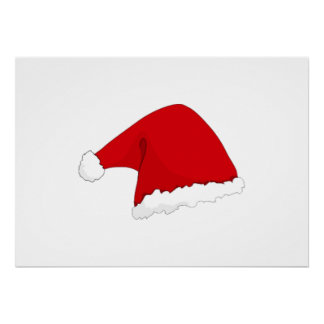 Christmas Santa Claus Hat Posters