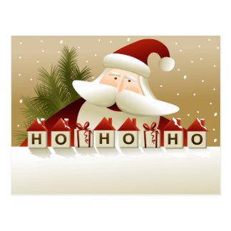 Christmas Santa Claus Ho Ho Ho Postcard